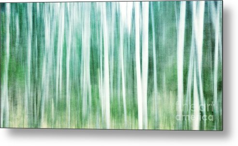 Abstract Metal Print featuring the photograph A Matter Of Blues by Priska Wettstein
