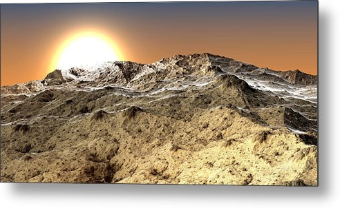Fine Art Metal Print featuring the photograph Arid by Kevin Trow