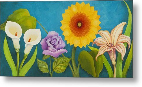 Art Metal Print featuring the painting Best Friends by Carol Sabo