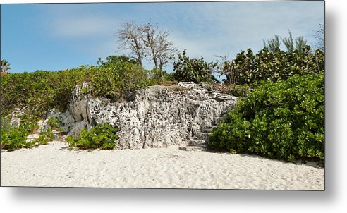 Color Metal Print featuring the photograph Cliff Stairs 1 by Amar Sheow