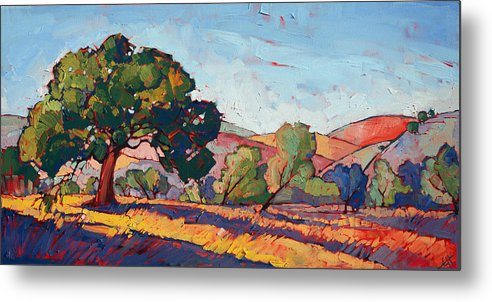 Paso Robles Metal Print featuring the painting Color Drift I by Erin Hanson
