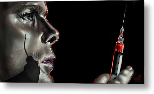 Dexter Metal Print featuring the drawing Darkly Dreaming Dexter by Vinny John Usuriello