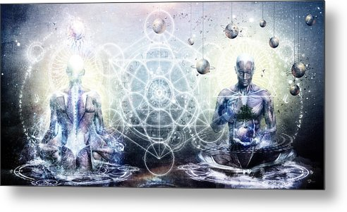 Spiritual Metal Print featuring the digital art Experience So Lucid Discovery So Clear by Cameron Gray