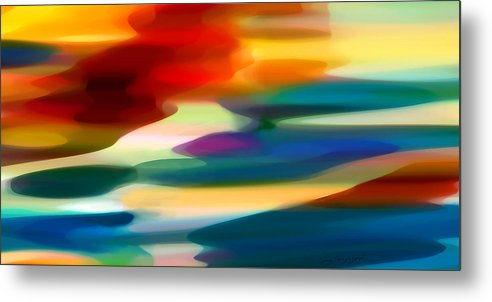 Fury Metal Print featuring the painting Fury Seascape by Amy Vangsgard