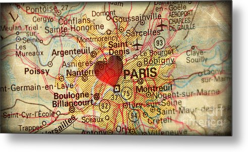 Paris Europe Map.Map Of Paris France Europe In A Antique Distressed Vintage Grung