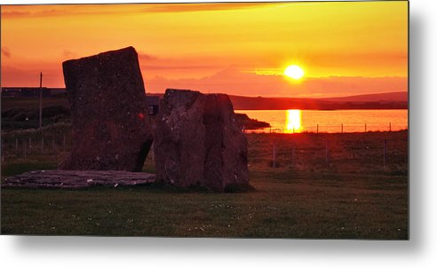 Sunset Metal Print featuring the photograph Stenness Sunset 2 by Steve Watson