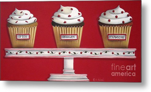 Art Metal Print featuring the painting Sweet Delights by Catherine Holman