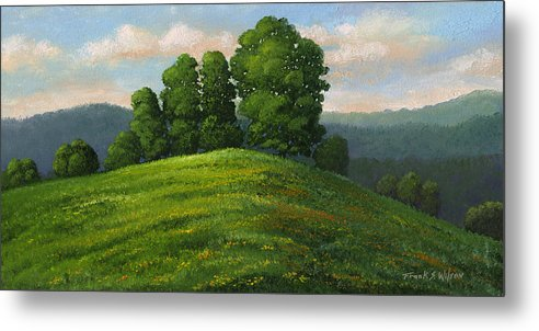 Landscape Metal Print featuring the painting Toboggan Hill by Frank Wilson