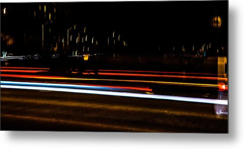 Slow Speed Metal Print featuring the photograph Tracers by Sennie Pierson