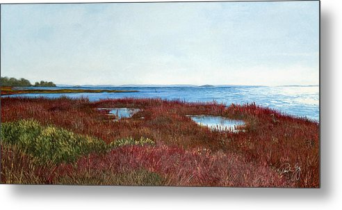 West Florida. Coast Panhandle Metal Print featuring the painting West Florida Panhandle Looking Towards The Gulf by Paul Gaj