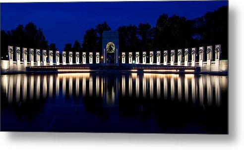 World War Ii Memorial Metal Print featuring the photograph World War II Memorial by Tami Stieger