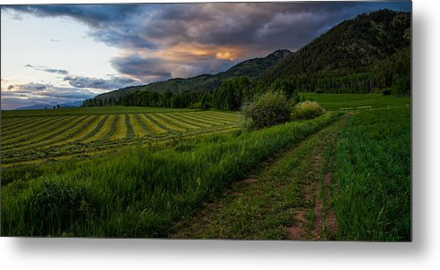 Star Valley Metal Print featuring the photograph Wyoming Pastures by Chad Dutson