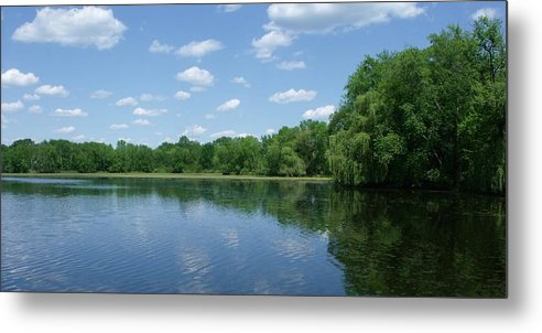 Water Metal Print featuring the photograph Harris Pond by Anna Villarreal Garbis
