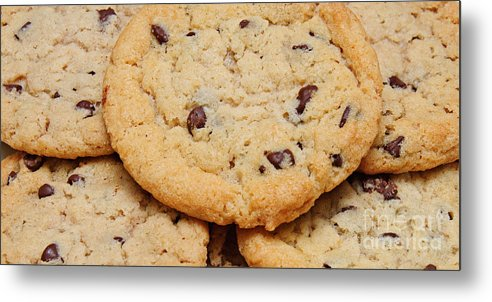 Andee Design Chocolate Chip Cookie Metal Print featuring the photograph Chocolate Chip Cookies Pano by Andee Design