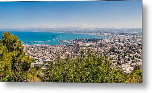 Landscape Metal Print featuring the photograph Harmonious City by Yevgeni Kacnelson