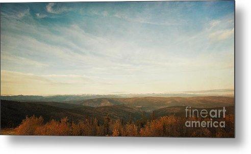 As Far As The Eye Can See Metal Print featuring the photograph Mountains As Far As The Eye Can See by Priska Wettstein
