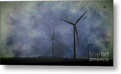 Texture Metal Print featuring the photograph Windmills. by Clare Bambers