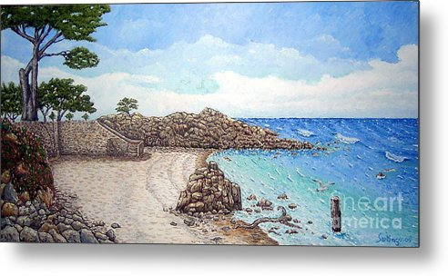 Impressionism Metal Print featuring the painting Pacific Grove by Santiago Chavez