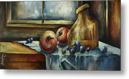 Still Life Metal Print featuring the painting Waiting by Michael Lang