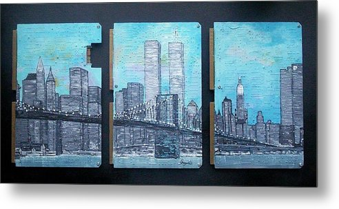 New York City Metal Print featuring the painting Always by Cary Singewald
