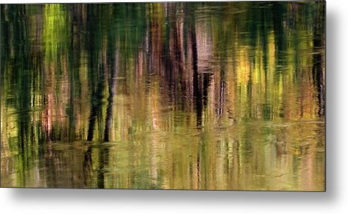 Autumn Metal Print featuring the photograph Autumn Reflection by Floyd Hopper