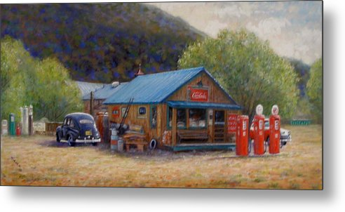 Realism Metal Print featuring the painting Below Taos 2 by Donelli DiMaria