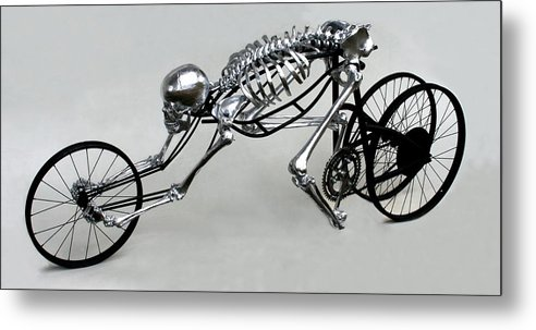 Bio-cycle Metal Print featuring the sculpture Bio Cycle by Jud Turner
