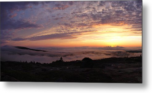 Cadillac Metal Print featuring the photograph Cadillac Sunset IIi Panorama by Rockstar Artworks