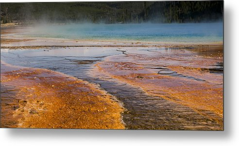 Grand Prismatic Spring Metal Print featuring the photograph Color Of Life by Chad Davis