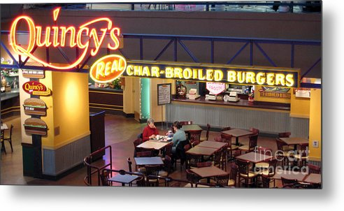 Restaurant Metal Print featuring the photograph Conversation by Larry Keahey
