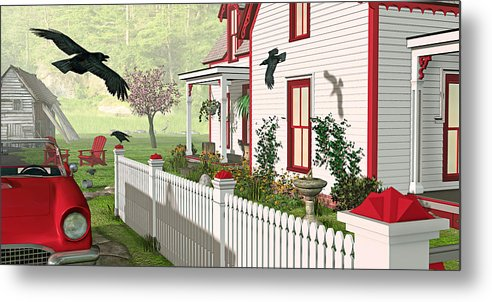 Victorian House Metal Print featuring the photograph Downeast Morning by Peter J Sucy