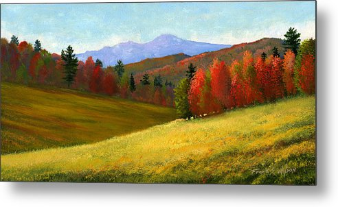 Landscape Metal Print featuring the painting Early October by Frank Wilson