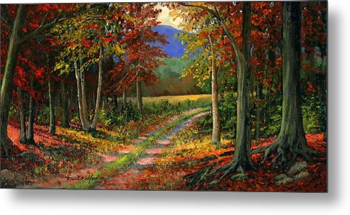 Landscape Metal Print featuring the painting Forgotten Road by Frank Wilson