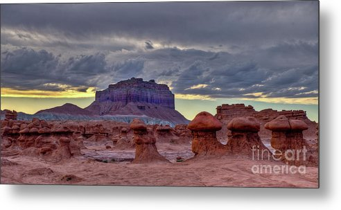 Utah Metal Print featuring the photograph Goblin Valley Sunset 2 by Kenneth Eis