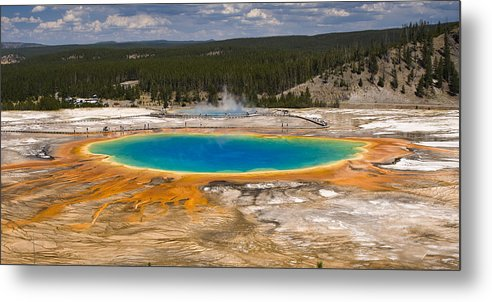 Grand Prismatic Spring Metal Print featuring the photograph Grand Prismatic Spring by Chad Davis