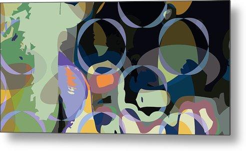 Abstract Metal Print featuring the digital art Greg1 by Scott Davis