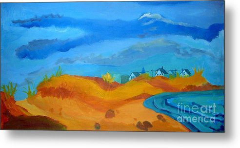 Ocean Metal Print featuring the painting Hampton Dunes by Debra Bretton Robinson