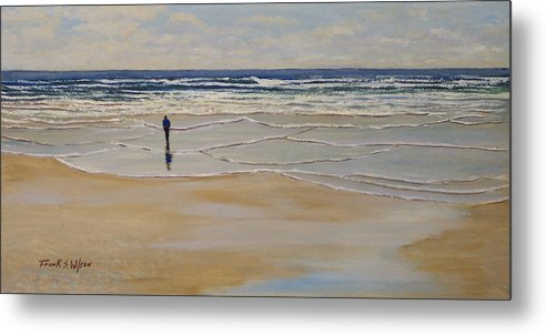 Beach Walk Metal Print featuring the painting Incoming Tide by Frank Wilson