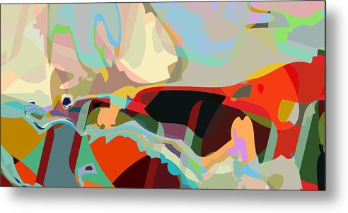 Abstract Metal Print featuring the digital art Jim 8 by Scott Davis