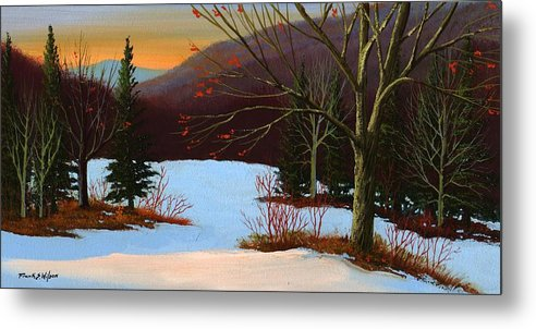 Winter Metal Print featuring the painting Last Light Of Day by Frank Wilson