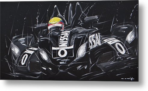 Cars Metal Print featuring the painting Le Mans Nissan Delta by Roberto Muccilo