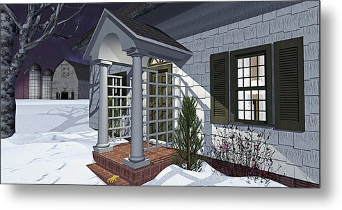 Porch Metal Print featuring the photograph Leave The Porch Light On by Peter J Sucy