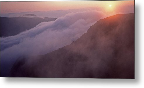 Mountain Metal Print featuring the photograph Mountain Sunrise by John Perriment