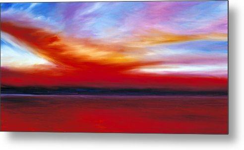 Clouds Metal Print featuring the painting October Sky by James Christopher Hill