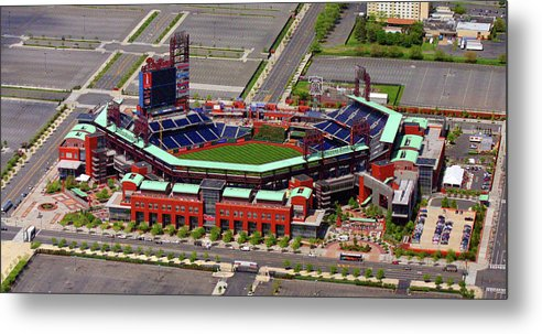 Phillies Metal Print featuring the photograph Phillies Citizens Bank Park by Duncan Pearson