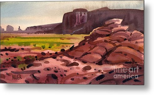 Monument Valley Metal Print featuring the painting Pillow Rocks by Donald Maier