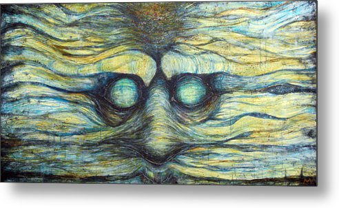 Face Metal Print featuring the painting Possession Of Mind by Mark M Mellon