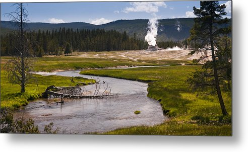 Castle Geyser Metal Print featuring the photograph River View by Chad Davis