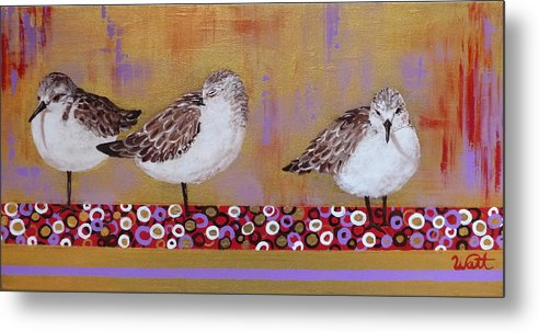 Sandpipers Metal Print featuring the painting Sandpipers On The Emerald Coast by Tammy Watt