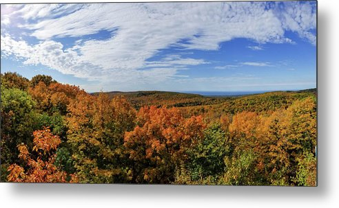 Porcupine Mountains Metal Print featuring the photograph Sky And Trees by Brian Wimmer